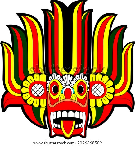 Gara Yaka Full Color. A Traditional Sri lankan mask Zdjęcia stock ©