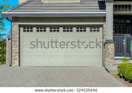 Garage Door In Vancouver Canada Ez Canvas