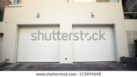 Garage doors at a modern building, Croatia