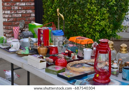 Garage sale  yard sale unnecessary decor items and things for home #687540304