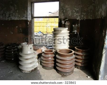 Garage with junk