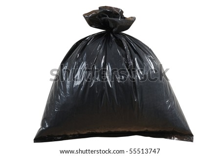 Garbage bag. Isolated