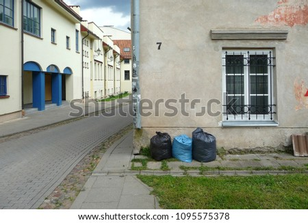 Garbage Bags at the Old House #1095575378