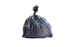 Garbage bags isolated on white background.
