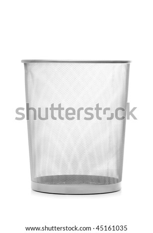Garbage bin isolated on the white background