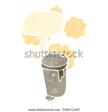 garbage can retro cartoon #148611269