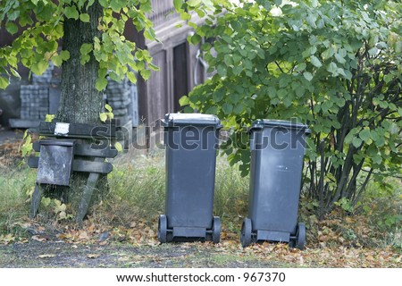 Garbage cans in Oslo, Norway
