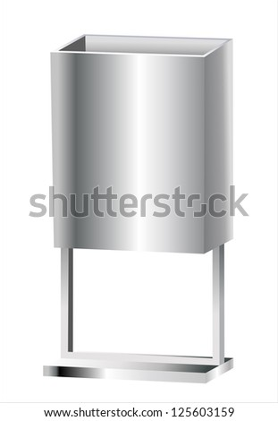 Garbage Cans (isolated on white and clipping path)