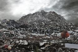 Garbage dump background