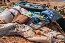 Garbage from debris that is degraded Removal of the waste will increase the accumulation of waste in the storage area.Old fabric and colorful plastic Waste that is difficult to degrade