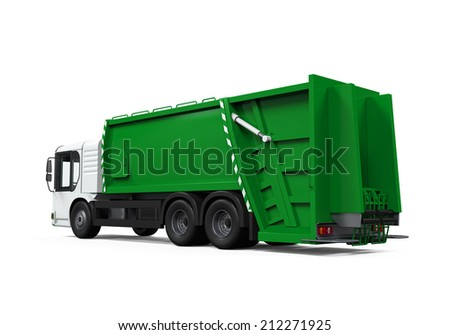 Garbage Truck Isolated #212271925