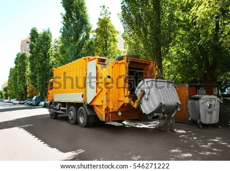 Garbage truck outdoor
