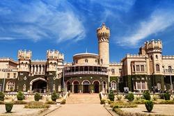 Garden and Bangalore king palace, Karnataka, India