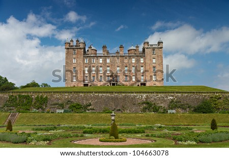 Garden and Castle of Drumlanrig, Scotland