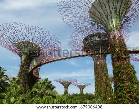 Garden Bay SINGAPORE  stock photo