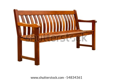 Garden bench isolated on white