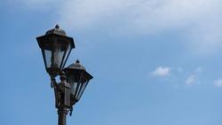 Garden Classic Lamp on Sky Background