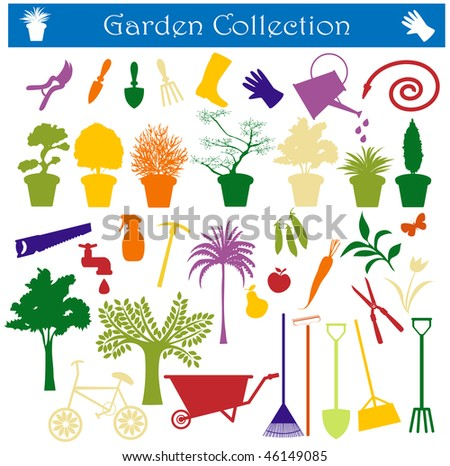 garden collection - stock photo