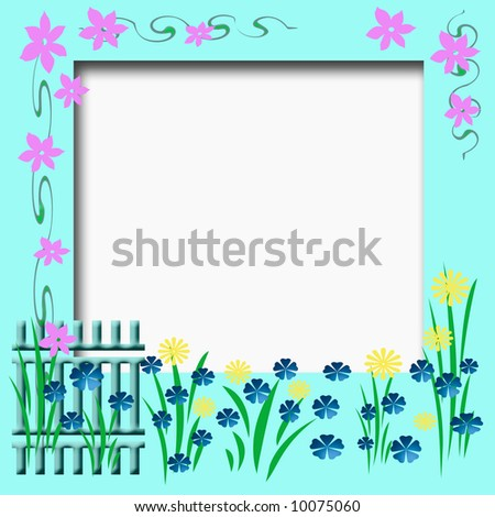 flower borders and frames. flower borders and frames.