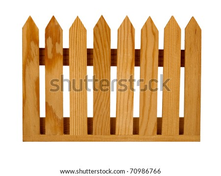 Garden fence panel isolated