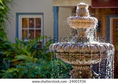Garden fountain in St. Augustine, Florida