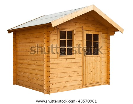 Garden house, isolated on a white background.