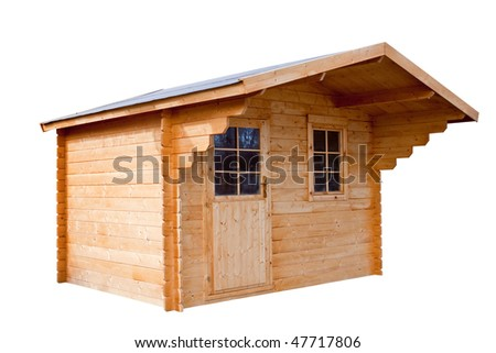 Garden house, isolated on a white background. - stock photo