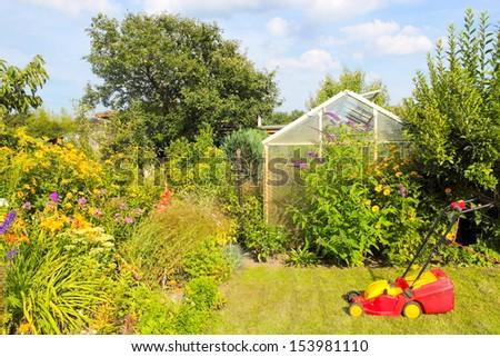 Garden idyll - stock photo