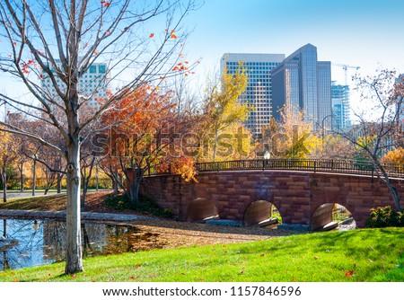 Garden in city, Salt Lake City, Utah, U.S.A. #1157846596