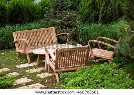 garden landscape with...