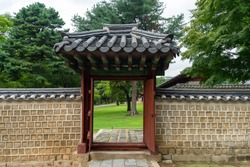 garden of Sanctuary Chongmyo in Seoul gate