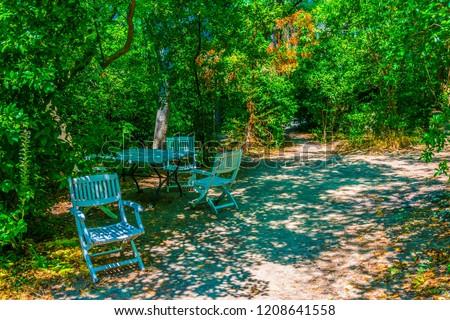 Garden of studio of Paul Cezanne in Aix-en-Provence, France\r