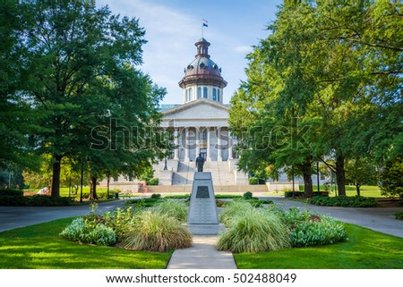 Garden outside the South Carolina State House in Columbia, South Carolina. #502488049