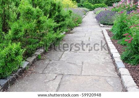Garden Path - stock photo