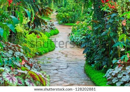 Garden path in Flower garden