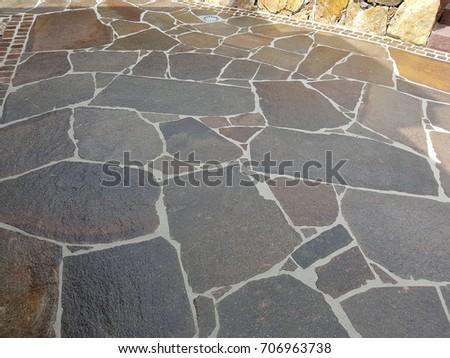 Garden path, natural stone, porphyry