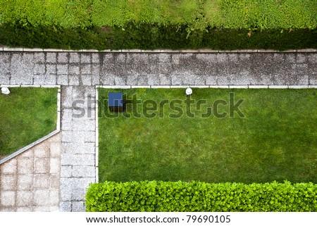 garden path top view