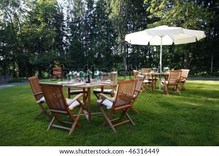 Garden place of Hotel Morris