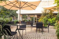 Garden restaurant in city center