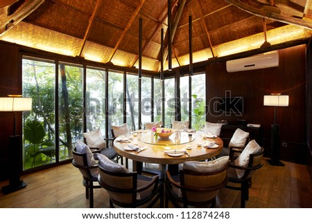 Garden restaurant's private dining room