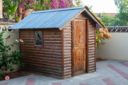 Garden shed for the tools and gardening objects in South Africa commonly called Wendy House