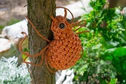 Garden spider sculpture
