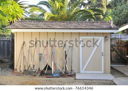 Garden Tools and a Home Tool Shed