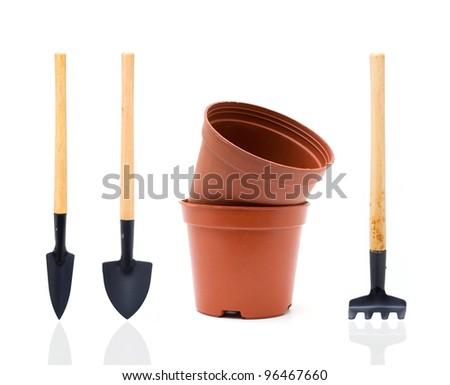 Garden tools (Clipping Path!)