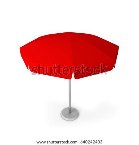 Garden umbrella. 3d illustration isolated on white background