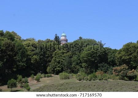 Garden under The Benedictine Pannonhalma Archabbey, Hungary  Stock fotó ©