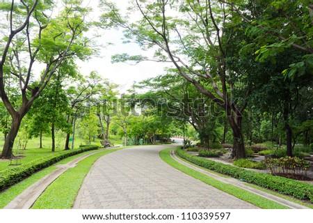 Garden Walkway - Shutterstock ID 110339597