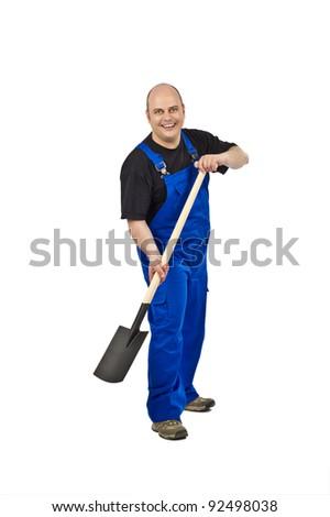 Gardener with spade