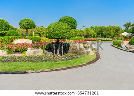 Gardening and Landscaping With Decorative Trees and Plants #354731201