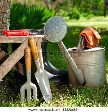 Gardening Tools Stock Photo 133286894 : Shutterstock